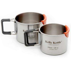 Kelly Kettle Edelstahl Camping Becher Set