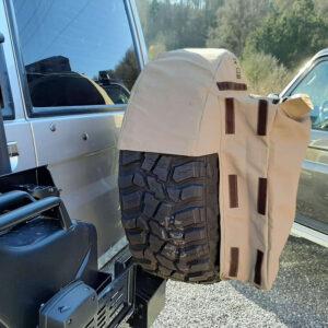Abfallsack-Beutel auf Reserverad